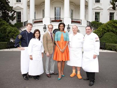 White House/Orange Crocs