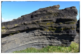 Lava formations on Route 218