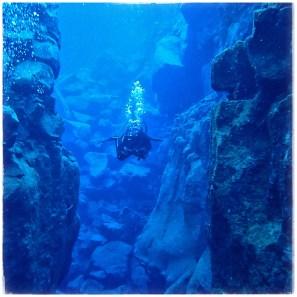 Diving Silfra, the Blue Hole, Þingvellir National Park