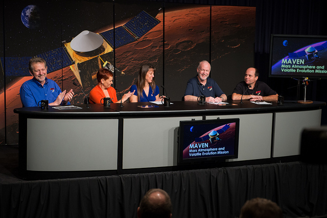 MAVEN press conference at NASA