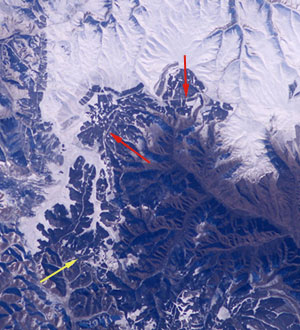 great wall of china seen from space