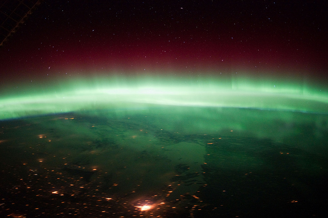 Aurora Borealis over Canada - Image by NASA