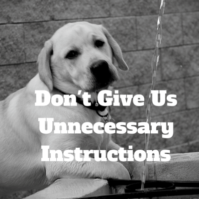 Don't Give Unnecessary Instructions... and other things kids wish parents would do
