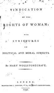 WollstonecraftVindicationWomanTitle