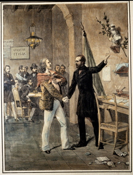 Marseille. First Meeting Between Garibaldi And Mazzini In 1833