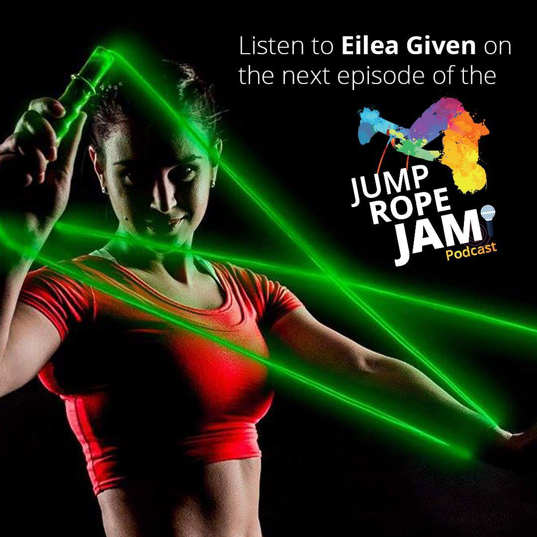 Listen to #Canadian #JumpRope #athlete Eilea Given on the next episode of the #JumpRopeJam #Podcast. #jump #rope #Canada #ropeskipping #ropeskipper #sport #sports #fun #togetherstronger #communitylove #Monday  @eileagiven @jumpropechampion @kaitsimpson17 @nickwoodard87 @kayleefaith320
