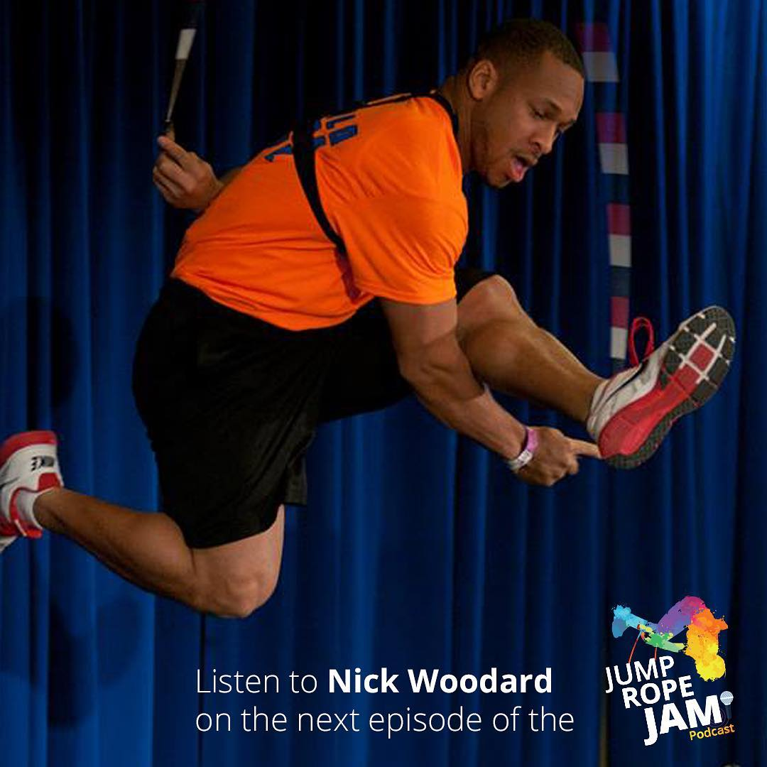 #Listen to Nick Woodard on #Monday's #episode of the #JumpRopeJam #Podcast #jumprope #jump #rope #ropeskipping #fun #subscribe #download @nickwoodard87 @kaitsimpson17 @wejumprope @ultra.rs @jumpropechampion @kayleefaith320 @eileagiven @rebels_o.k._rope_skipping @worldjumprope @hotdogusa