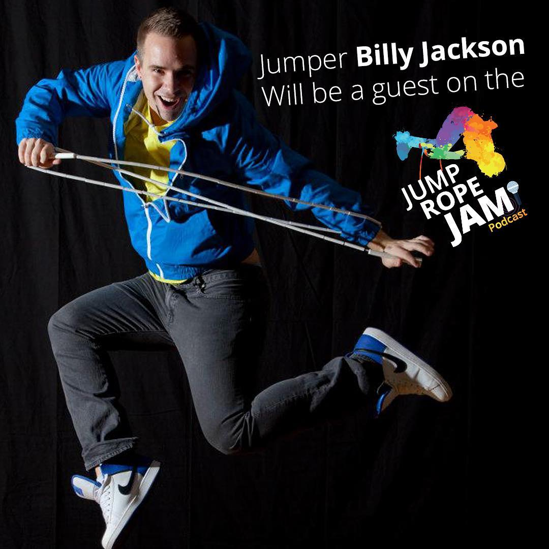 The #amazing #jumper @billyjumprope will be a #guest on the next #episode of the #JumpRopeJam #Podcast @flightcrewjumprope @wejumprope @nickwoodard87 @jumpropechampion @eileagiven @kaitsimpson17 @ultra.rs @worldjumprope @hotdogusa @usajumprope #jumprope #ropeskipping