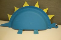 Preschool Crafts for Kids*: Stegosaurus Paper Plate Craft
