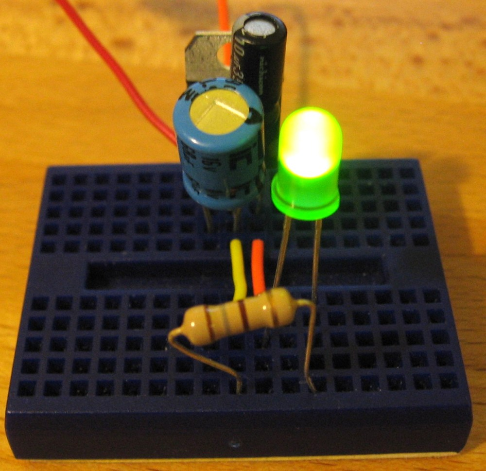 medium resolution of here is our simple voltage regulator circuit