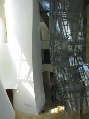 Looking down from the 3rd floor to the atrium