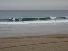 Surfers at Bakio Beach