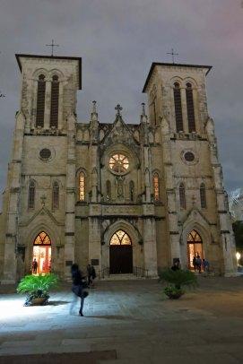 San Fernando Cathedral at dusk