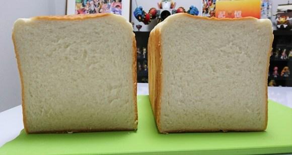 湯種食パンの断面