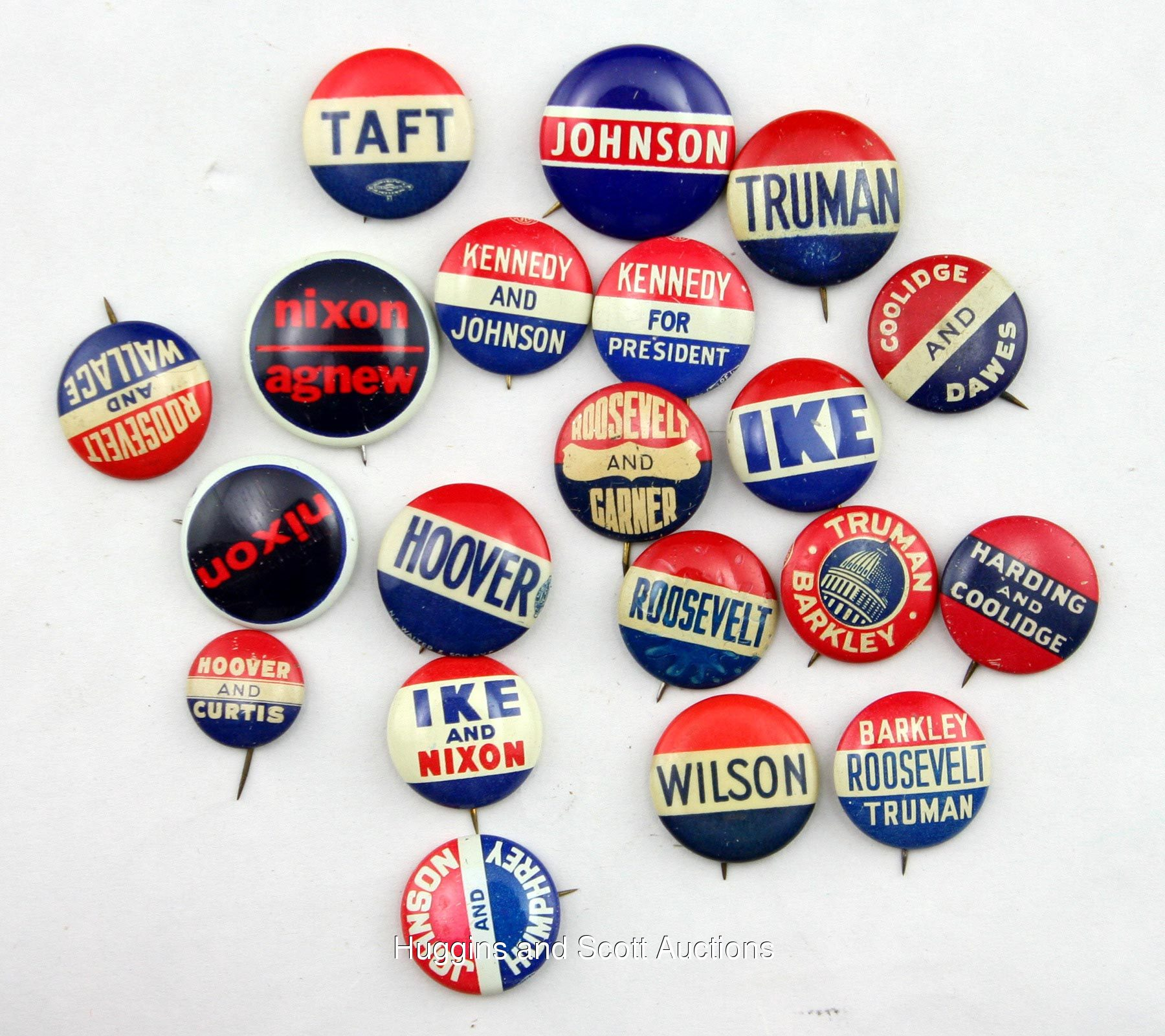 Harding Coolidge Buttons