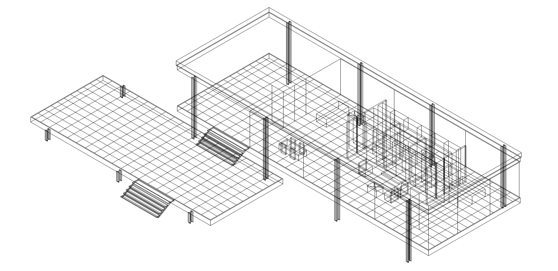 Digital and Physical Model of Farnsworth House