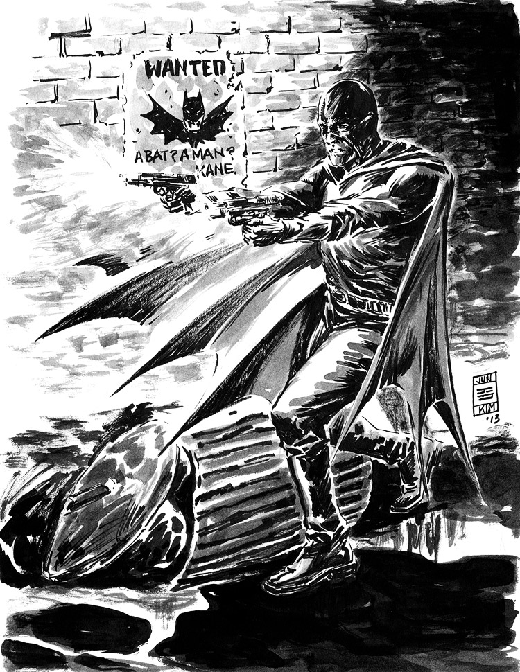 Black Bat - Pulp Sketch by Jun Bob Kim