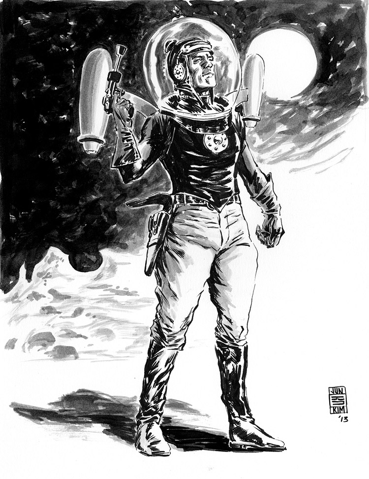 Buck Rogers - Pulp Sketch by Jun Bob Kim