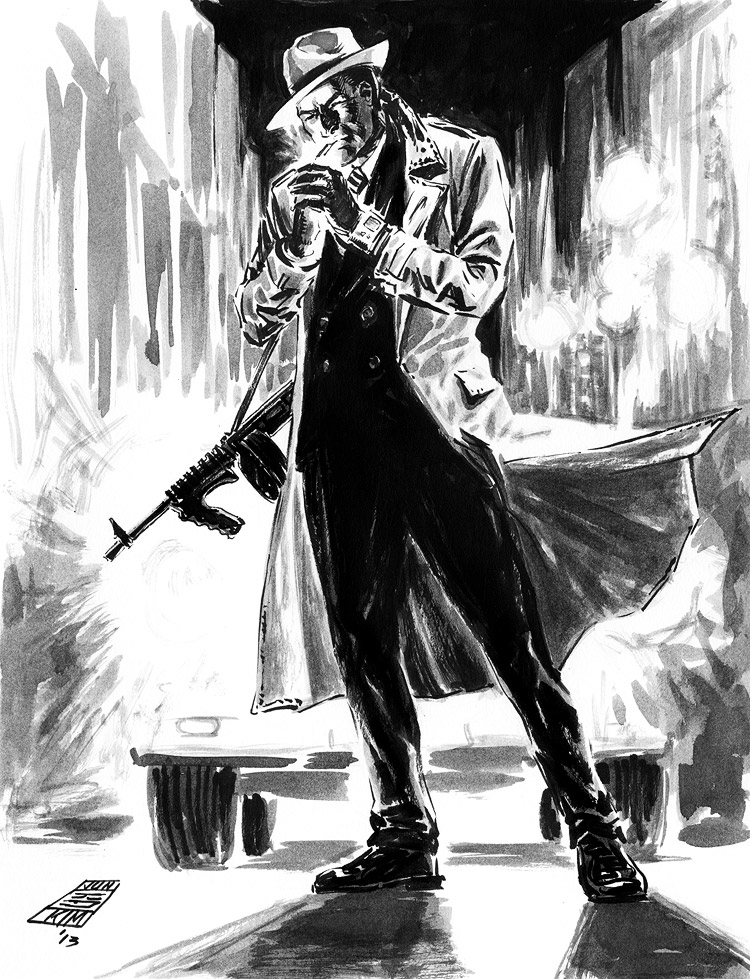Dick Tracy - Pulp Sketch by Jun Bob Kim