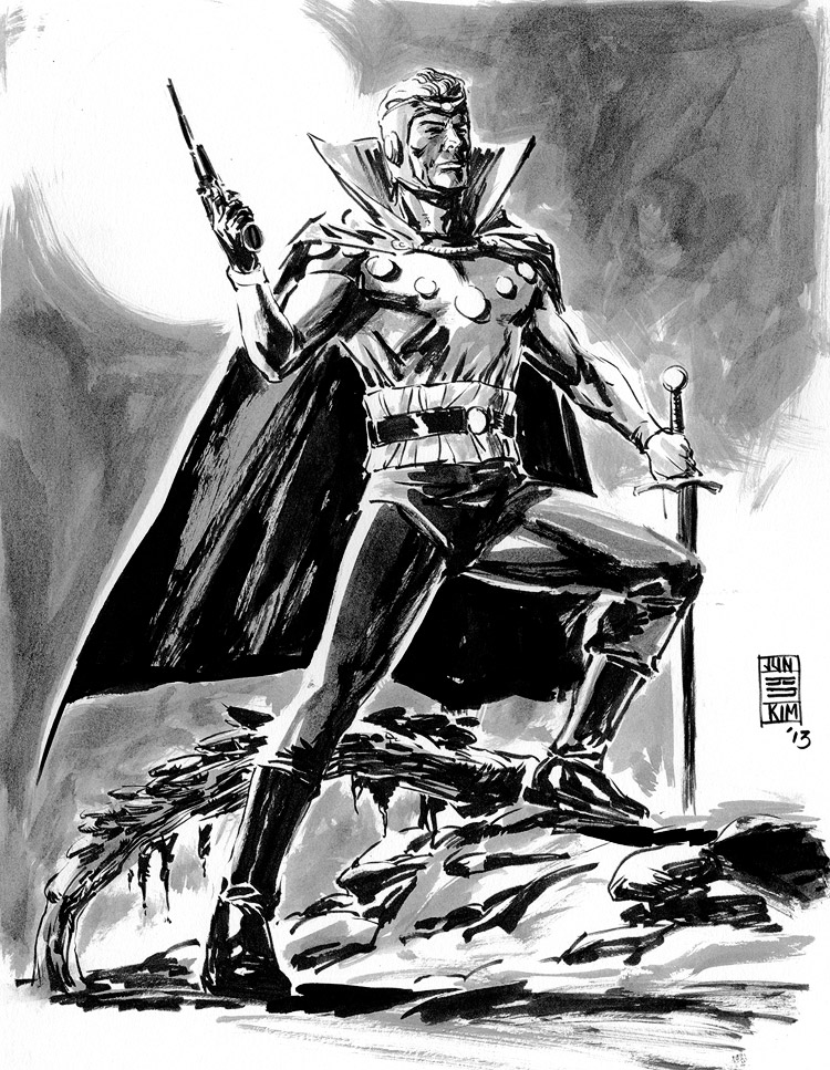 Flash Gordon - Pulp Sketch by Jun Bob Kim