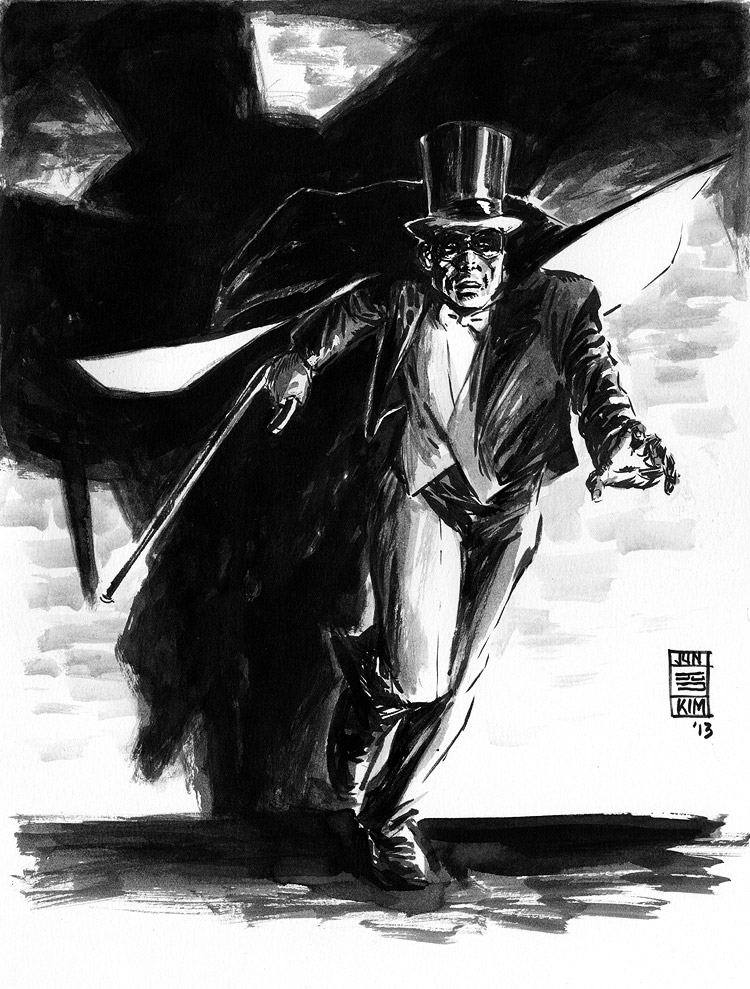 Phantom Detective - Pulp Sketch by Jun Bob Kim