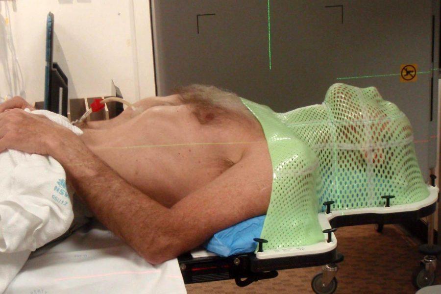 Kayak designer Steve Muir, of Grafton, undergoes radiation treatment.