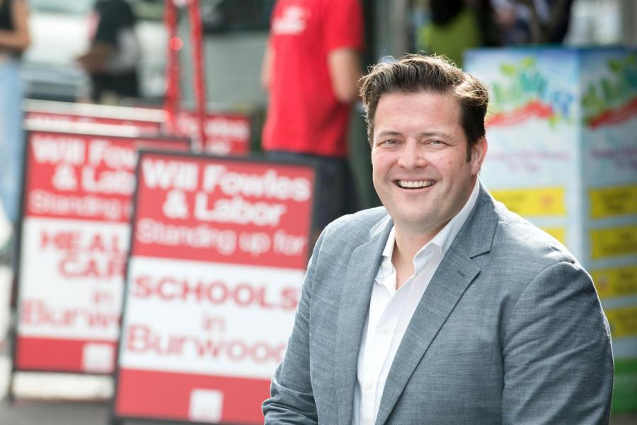 Labor's candidate for Burwood Will Fowles