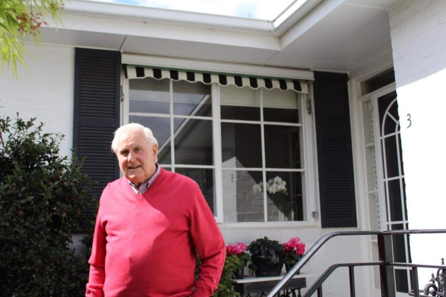 Jack Roach at his Canterbury home