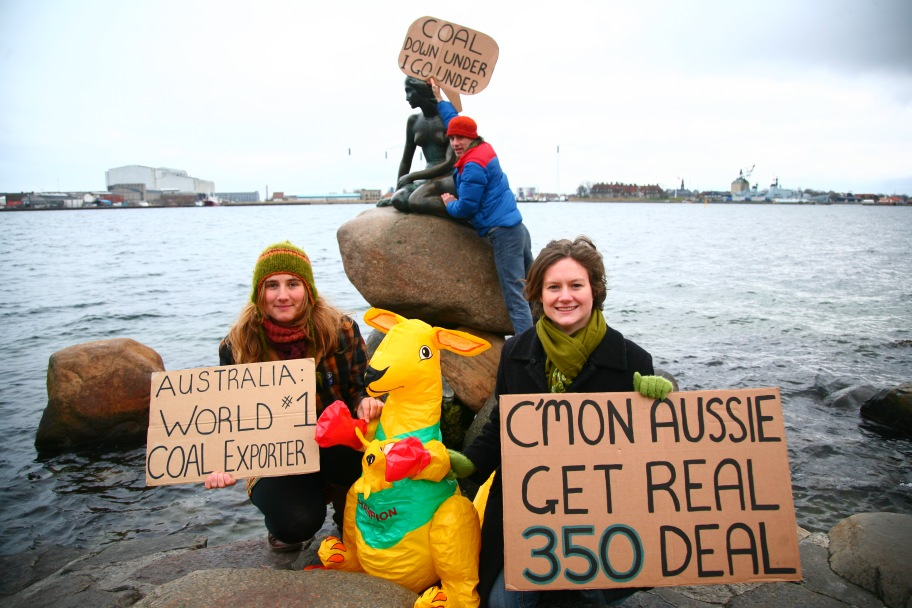 Australians calling for action at COP15 in Copenhagen in 2009.