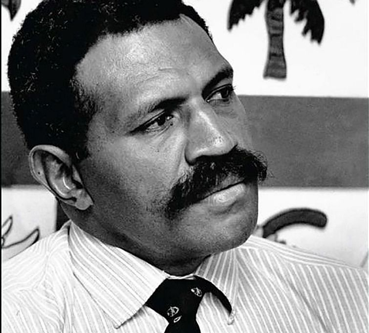 The 1987 Fiji military coups leader Sitiveni Rabuka as he was back then