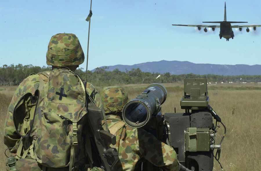 Australian soldiers during a training exercise with American troops in 2001.