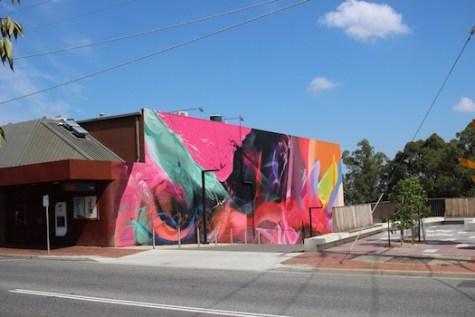 Street art on the side of the art deco Cameo Cinemas in Belgrave, Victoria in the outer metropolitan federal seat of La Trobe. Photo: Zainah Mertakusuma