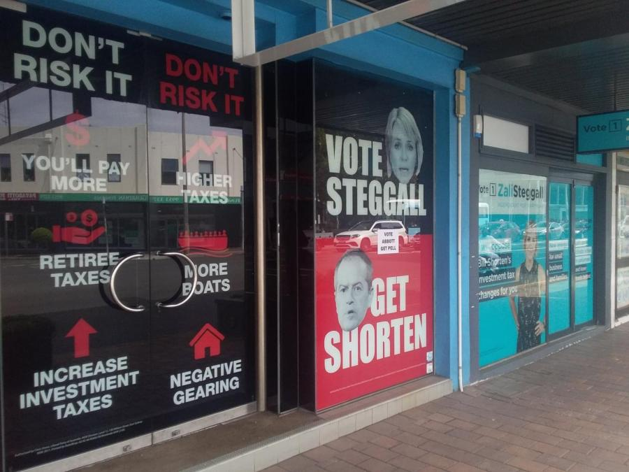 Duelling shopfronts in Sydney's Cremorne Junction