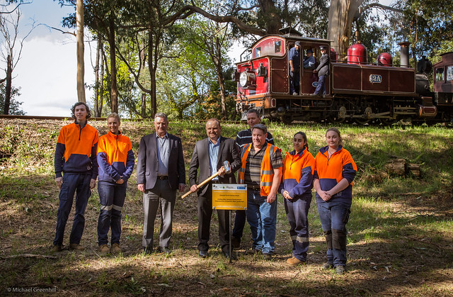 Federal member for La Trobe, Jason Wood, poses for photos at Fielder station after announcing a $300,000 grant for weed reduction, revegetation and bushire manacement along the Wright Forest corridor. Photo: Michael Greenhill (CC BY-NC-ND 2.0)