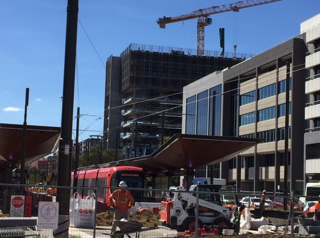 Light rail has changed the face of Canberra's Northbourne Avenue.