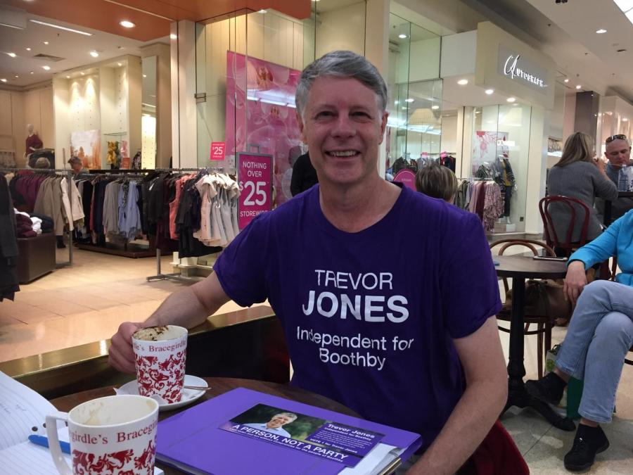 Trevor Jones is rejecting preference deals in his bid for the seat of Boothby