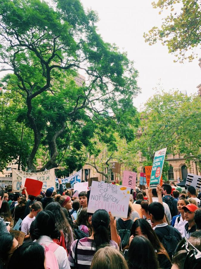Thousands of students converged on Sydneys Town Hall on March 15 calling for climate action.