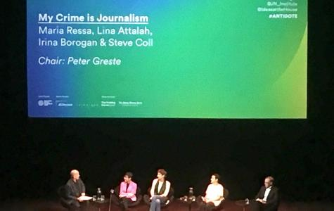 Peter Greste confronted over Assange opinion piece