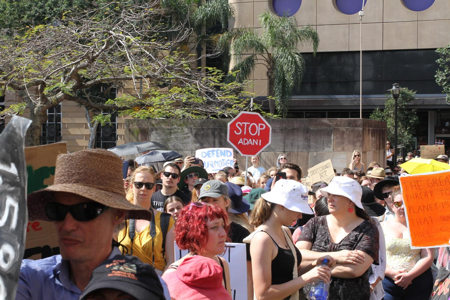 Protesters gathered at Brisbane's second School Strike for the Climate on September 20.