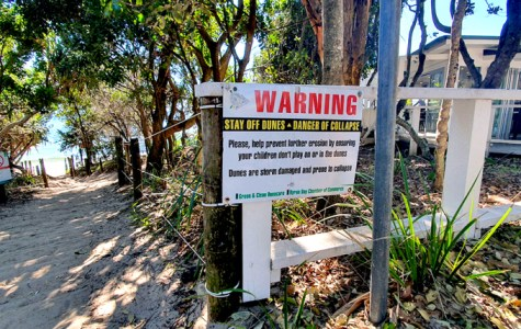 Coastal erosion damages Byron beaches