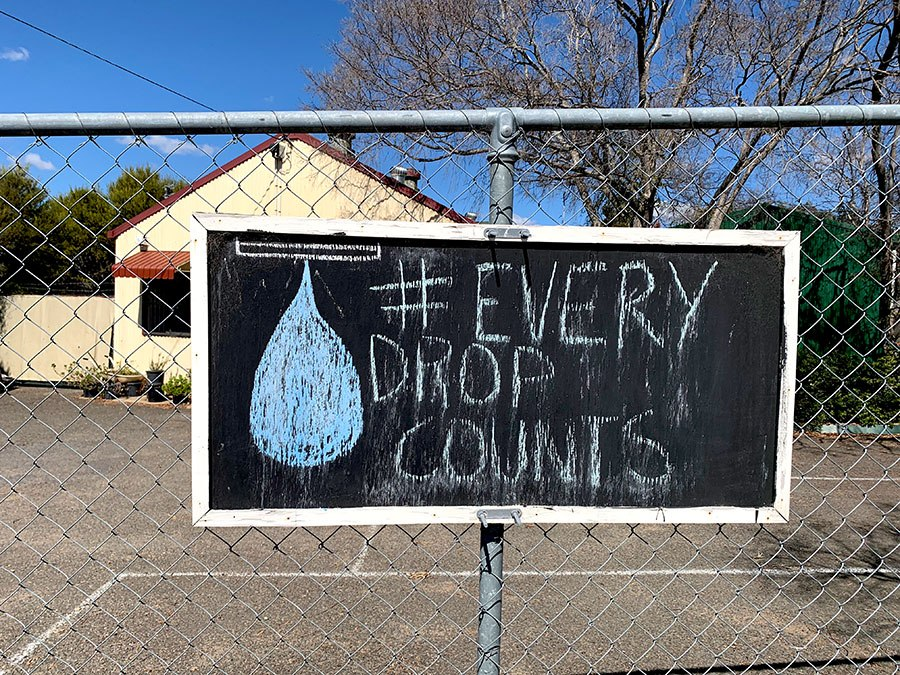 Local businesses such as this nursery in Warwick are only too well aware of the water restrictions in the drought-stricken community. Photo: Ben Harden