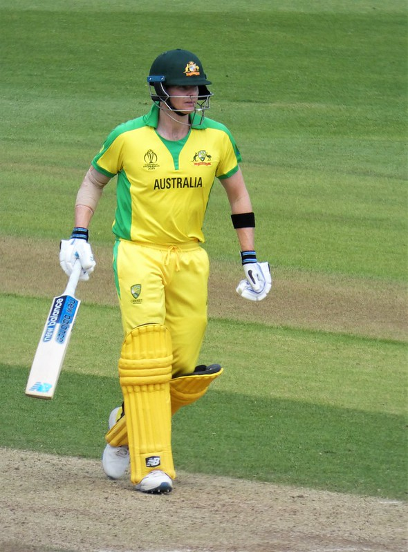 Australia's star batsman at a World Cup match at Trent Bridge in June 2019. Photo: Duncan Harris (CC BY 2.0)