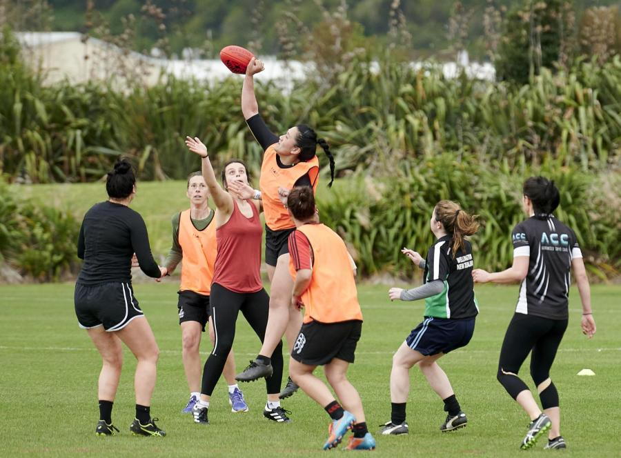 The+Wellington+AFL+womens+team+playing+their+first+game.+Photo%3A++Jun+Tanlayco