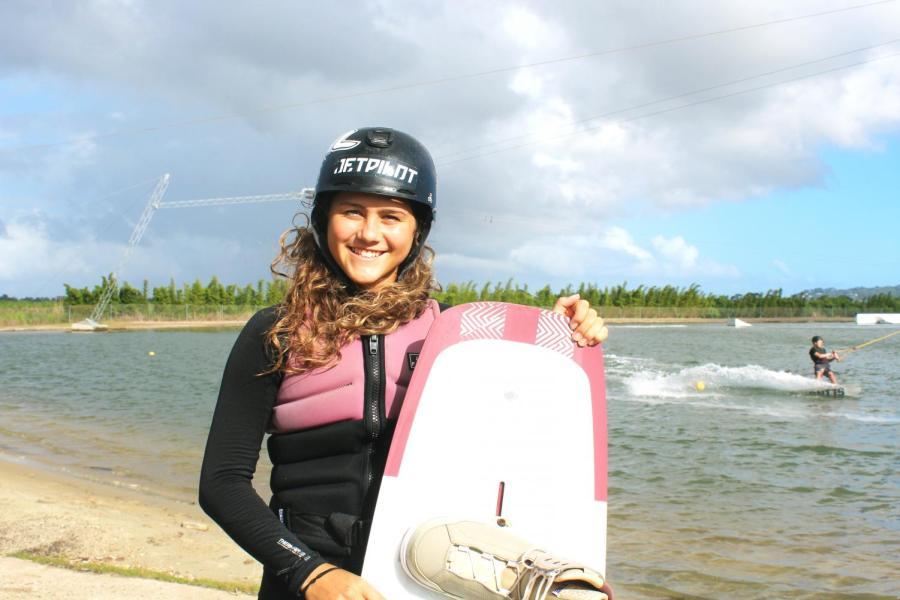 Skye+Herbett+is+a+14-year-old+Sunshine+Coast+wakeboarding+star.+Photo+by+Rebecca+Mugridge