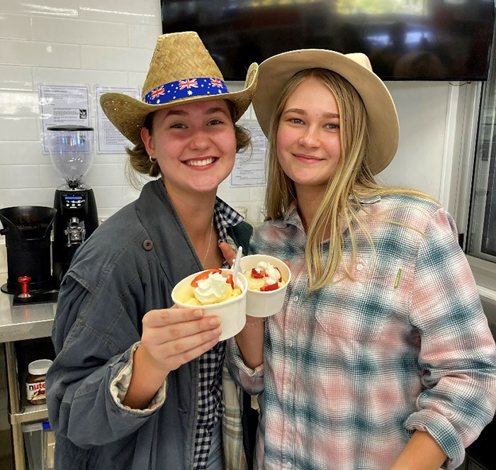 Ekka@Loreto was created as a fun day for students and staff and featured farm-themed free dress. Photo: Courtesy Loreto College Coorparoo