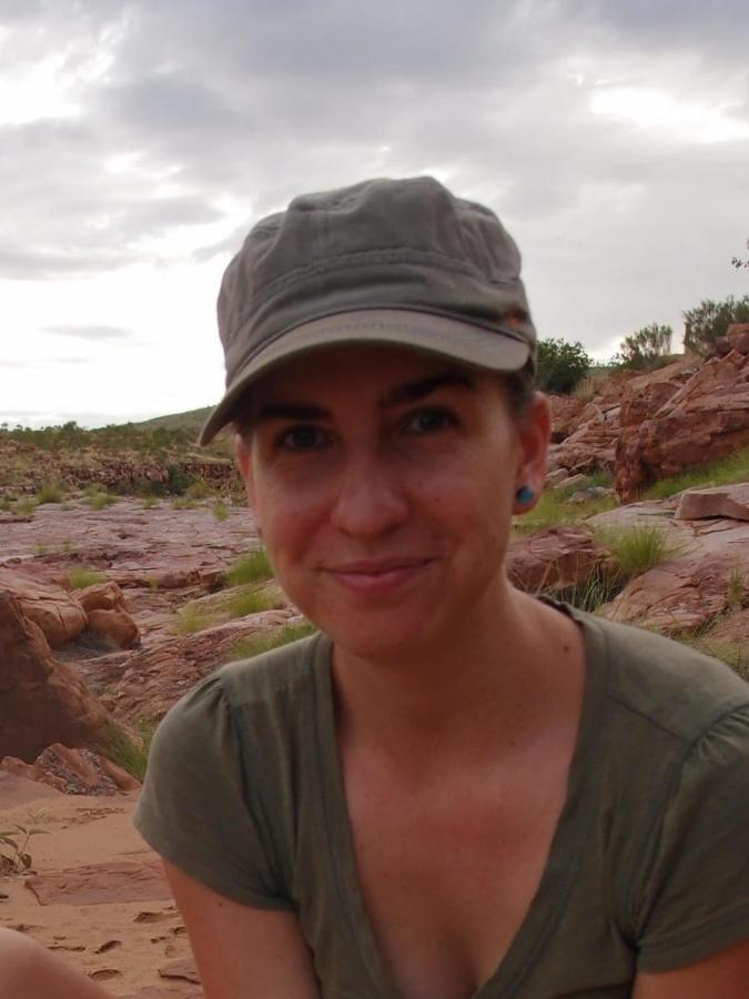 Dr Anja Skroblin has spent the past two years monitoring bilby populations in the Western Australian desert.