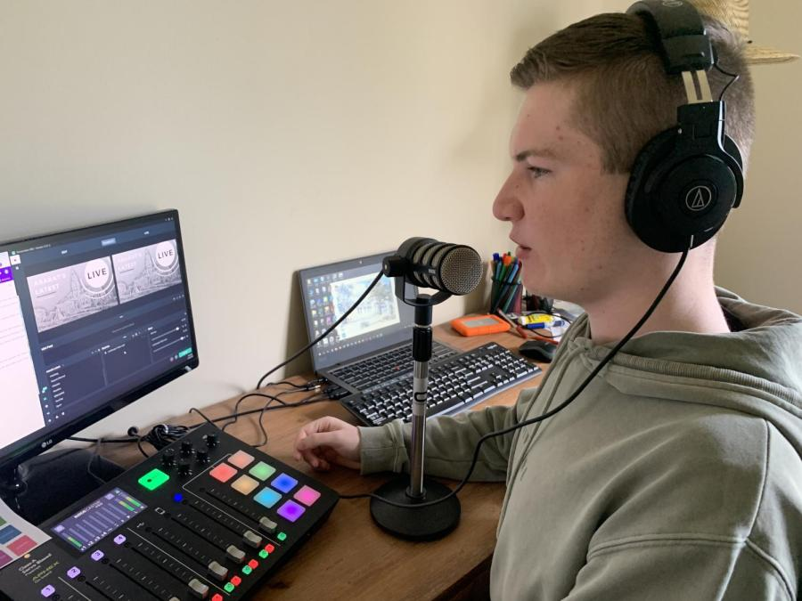 17-year-old Jack Ward provides his town with its news via his hyperlocal podcast. PHOTO: Supplied by Jack Ward.