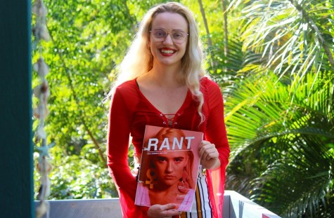 Rant creator Faith Thurnwald holding a copy of the only print edition of Rant. Photo: Louise Nilsson