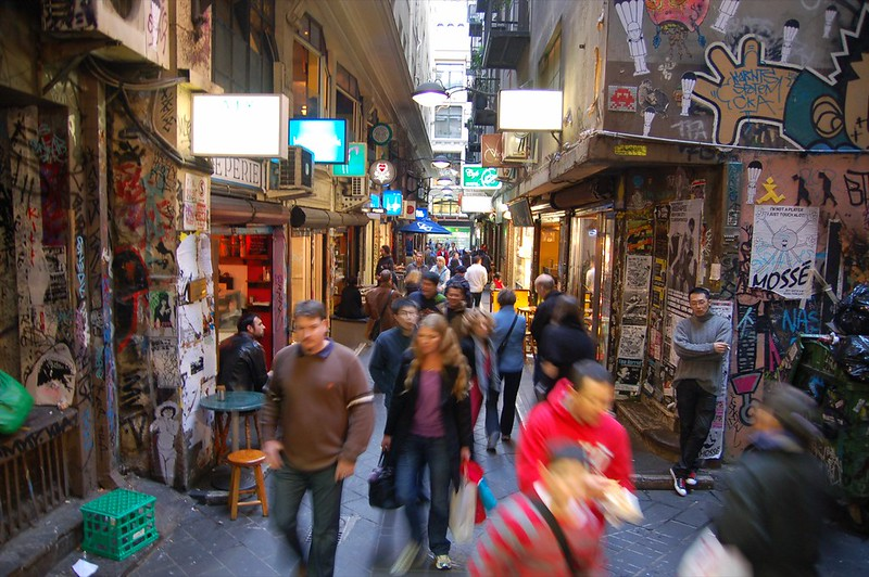A crowded laneway in Melbourne. Photo: Angela Rutherford (CC BY-NC-ND 2.0)