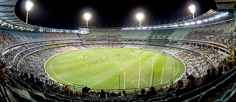 The Melbourne Cricket Ground at night. Photo: Sascha Wenninger (CC BY-SA 2.0)